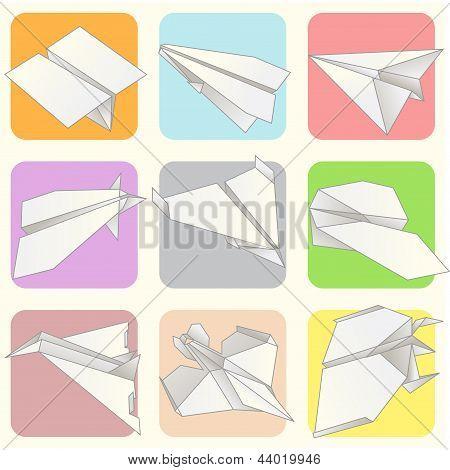 Paper Plane Model Collection Set