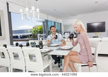 Young Couple Dining
