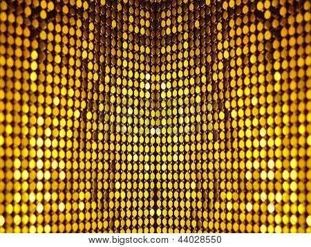 Golden disco sequins background