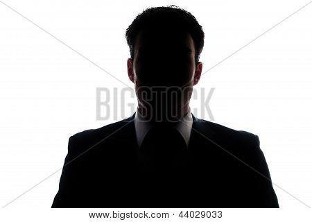 Businessman portrait silhouette