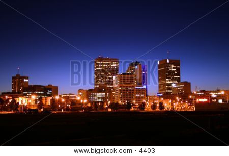 Winnipeg Skyline At Night
