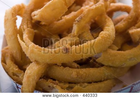 Close Up On Onion Rings