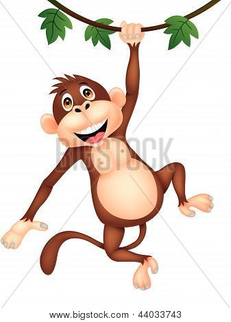 Dibujos animados mono lindo colgante