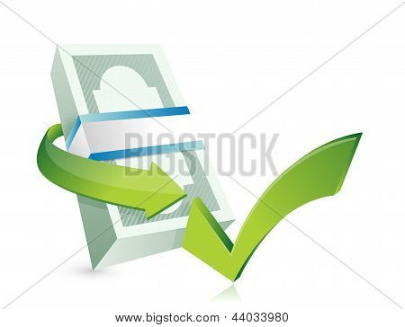 Monetary Approval Illustration Design