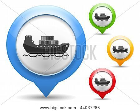 Transport Barge Icon