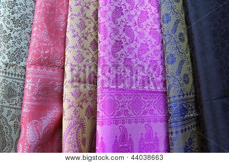Different Colours Of Indian Cloth Fabric
