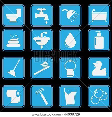 Toilet Icon Set Basic Style