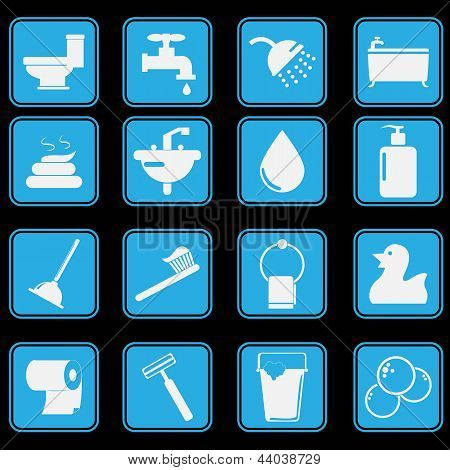 WC pictogram Set basisstyl
