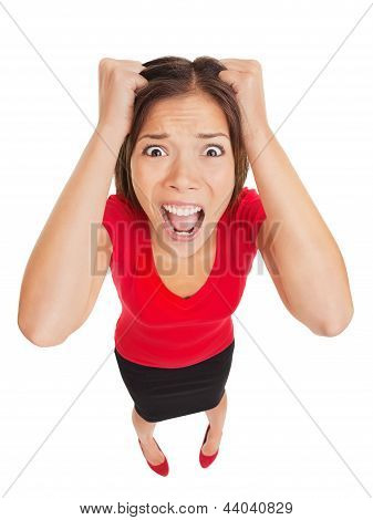 Terrified Woman With Appalled Expression