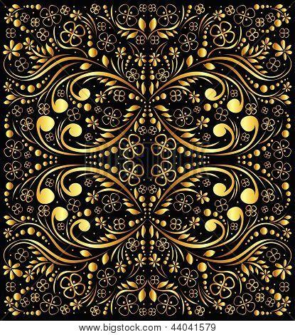 floral gold background