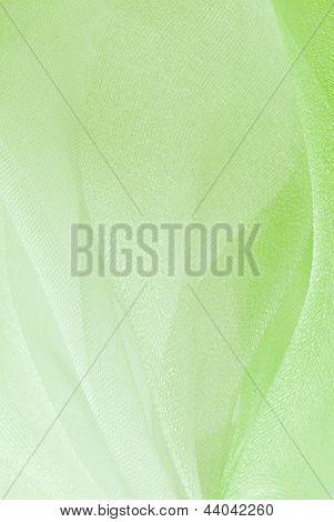 textura de la tela de organza verde
