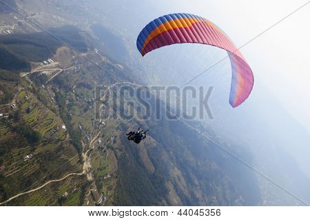 Tandem paragliding in Pokhara, Nepal