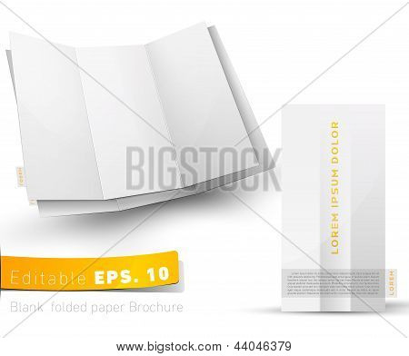 Blank Folded Brochure For Your Design Presentation