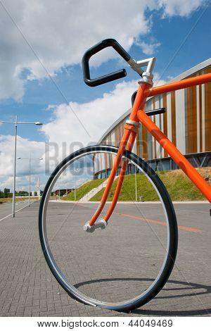 Big racing bike at the street