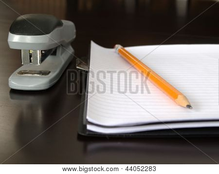 Notepad Sitting On A Desk