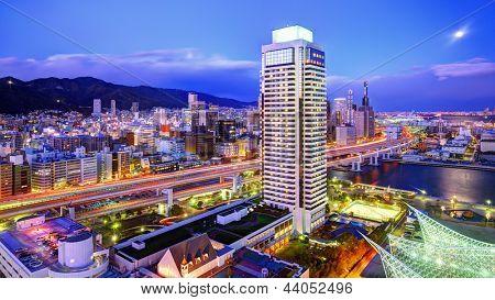 Panorama de Kobe, Japão Expressway de Hanshin