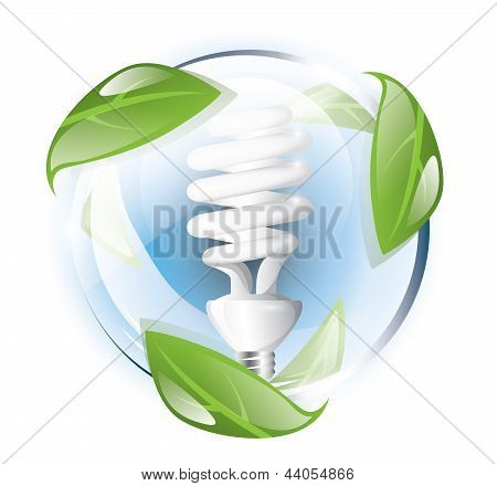 Fluorescent lightbulb, recycle concept