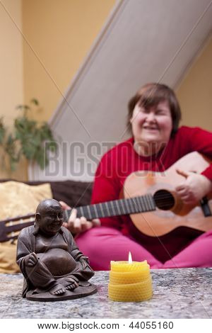 Disabled Woman Experiences A Music Therapy