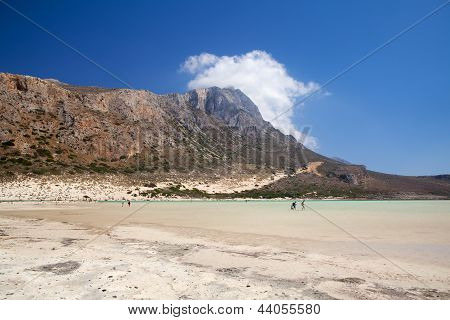 The Balos Landscape Of Crete, Greece