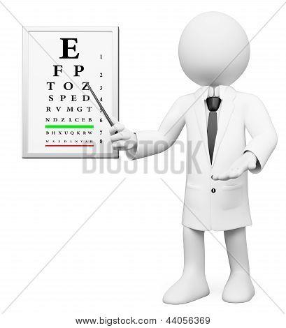 3D White People. Optometrist, Optician