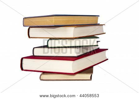 several beautiful books isolated on white background