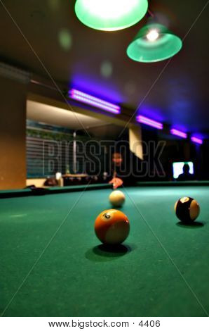 Billiards At A Bar