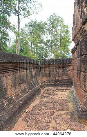 Path Among The Ruins At Banteay Srei, Cambodia