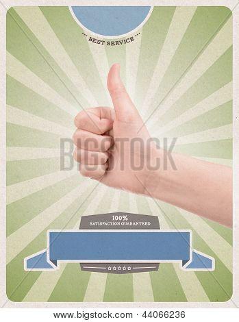 Modelo de cartaz de estilo retrô de sucesso