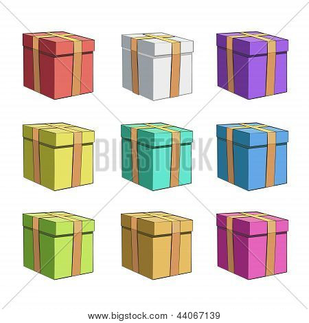 Colorful Gift Box. Vector Ddesign.