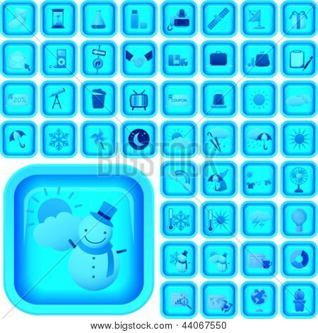 Ultimate vector icon or button set