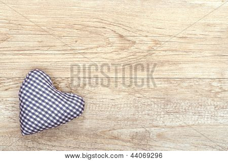 Heart Of Cloth Blue Checked