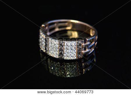 Golden Jewelry Ring