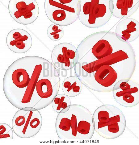 Porcentagens em bolhas de sabão