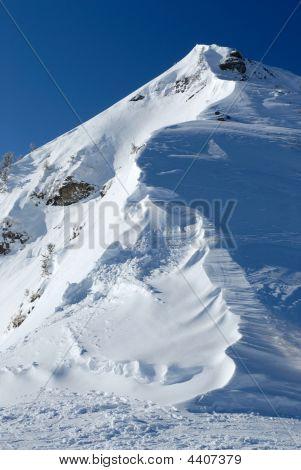 Snow Edge Of A Mountain