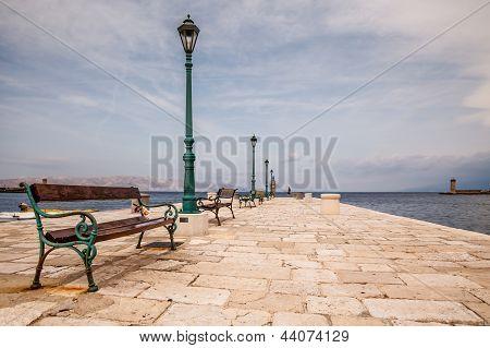 Beautiful Boat Dock In The Town Of Senj Near Istria, Croatia