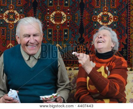 Two Smiling Senior