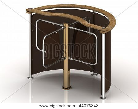 Turnstile With Gilded Crosspiece