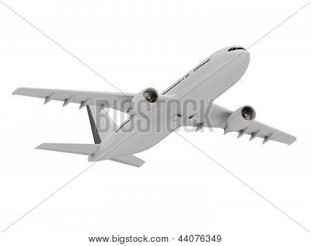 Gallant White Passenger Airliner