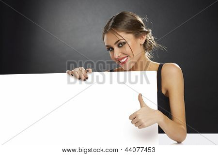 Thumb Up And Blank Billboard
