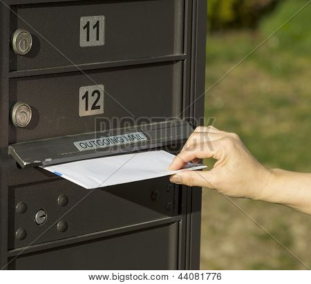 Sending Letter To Outgoing Postal Mailbox