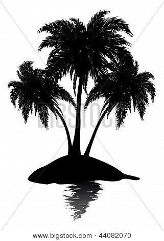 Small Island Silhouette