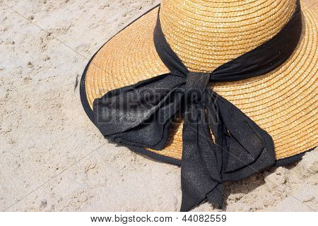 Sun Hat On The Sand