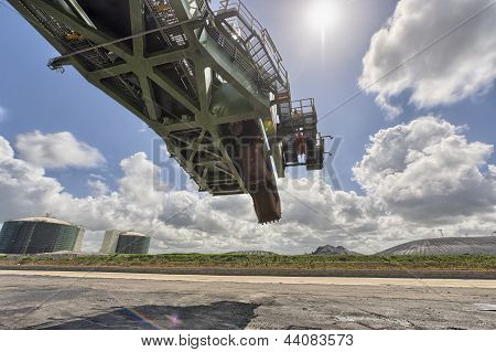 Arm Of An Industrial Dry Bulk Stacker/reclaimer