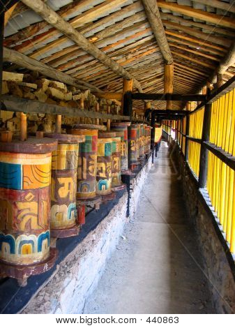 Colorful Prayer Wheels