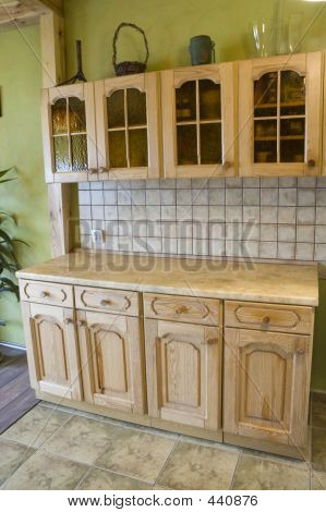 Full Wooden Kitchen,