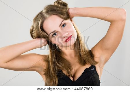 portrait of sexy women with big breasts