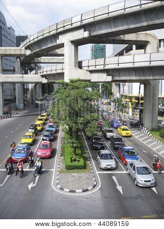 Bangkok Traffic Siam Sqaure Mrt