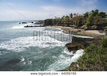 Costa vulcânica Bali Indonésia