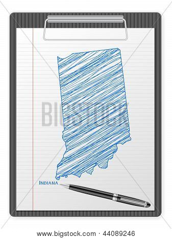 Clipboard Indiana Map