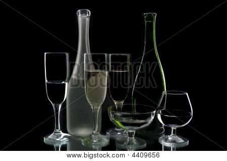 Wine Bottles And Glasses